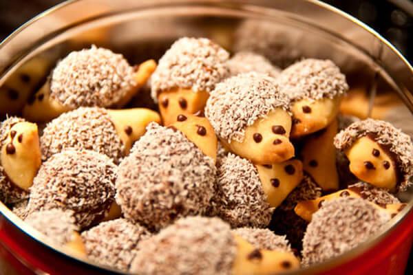 süsse Igel-Kekse